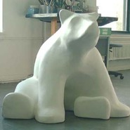 Bear - Stylized - Large Sitting | Fiberglass Animal