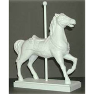 Carousel Horse - Table Top & Souvenir Size Prancer on Base | Fiberglass Animal