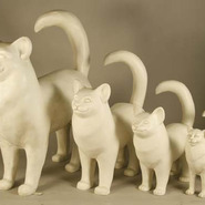 Cat - Table Top Standing | Fiberglass Animal