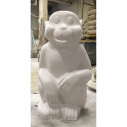 Mid Sized Sitting Monkey | Fiberglass Animal