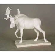 Moose - Table Top on base | Fiberglass Animal