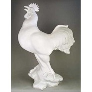 Bird - Rooster on Rock - Large & Oversize | Fiberglass Animal