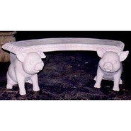 Pig - Whimsical Piglet Bench | Fiberglass Animal