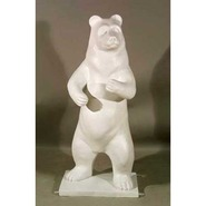 Bear - Brown - Midsize Dancing | Fiberglass Animal
