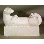 Otter - Reclining on Base | Fiberglass Animal