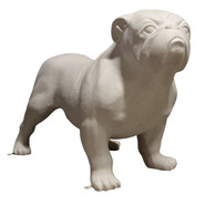 Dog - Bulldog - Large | Fiberglass Animal