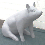 Pig –  Large Sitting - Ears Floppy or Up | Fiberglass Animal