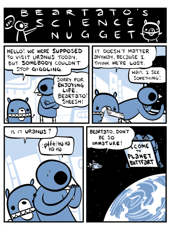 """Where to Find Uranus"" by nedroid.com"