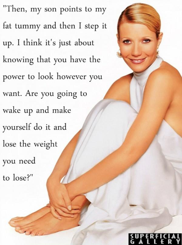Gwyneth Paltrow on Being Fat - Superficial Gallery