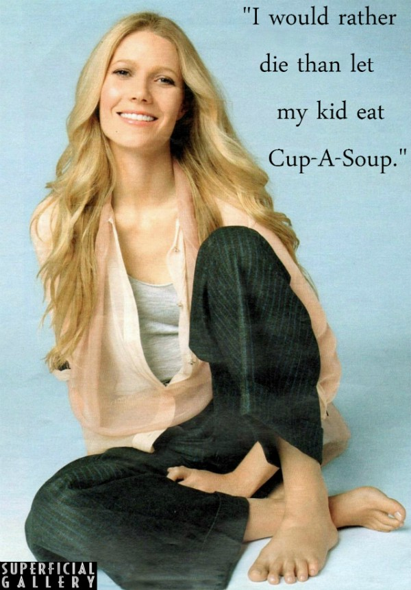 Gwyneth Paltrow on Cup-A-Soup - Superficial Gallery