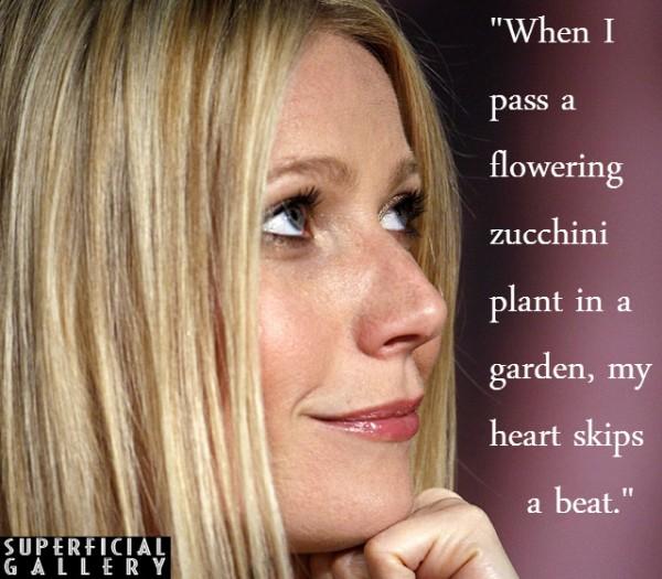 Gwyneth Paltrow on Zucchini Flowers - Superficial Gallery