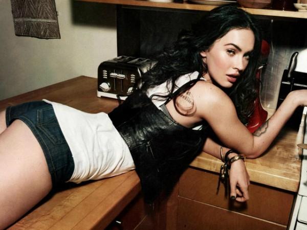 Megan Fox on the Counter Hot Ass