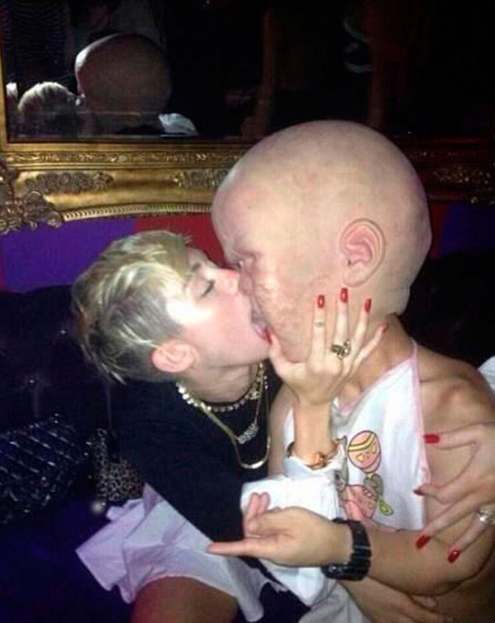 Miley Cyrus Makes Out with Giant Baby