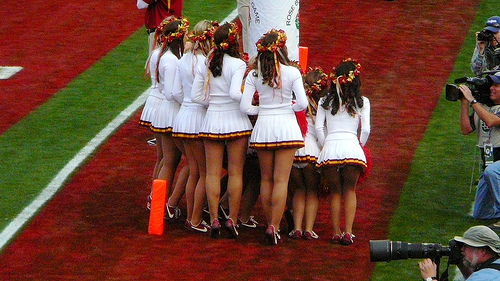 Lucky for us, cheerleaders suck at hiding.