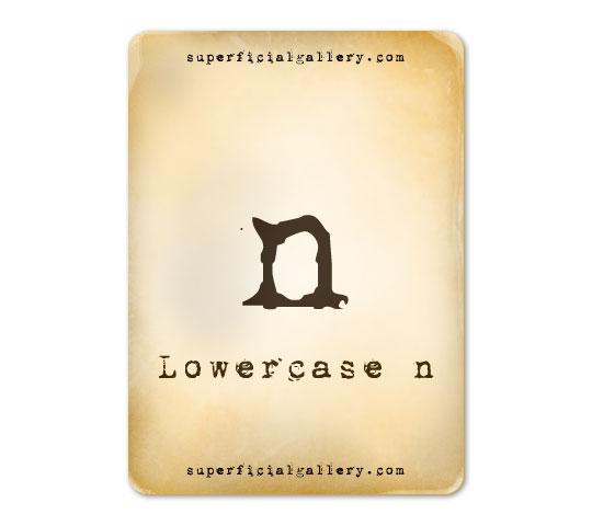 lowercase-n