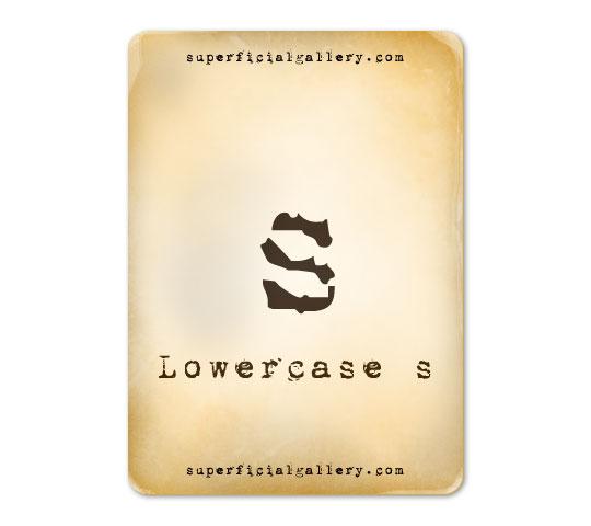 lowercase-s