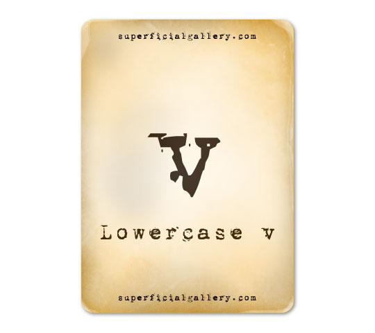lowercase-v