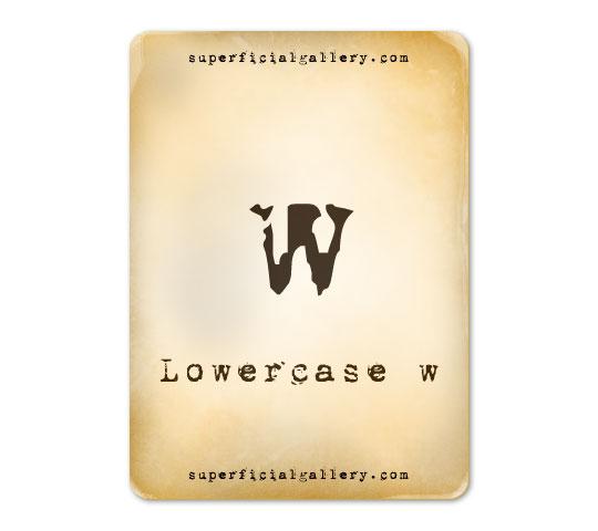 lowercase-w1