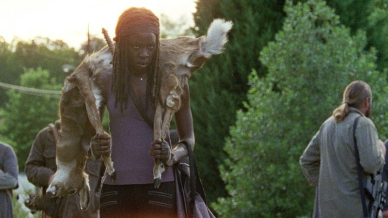 michonne-with-deer