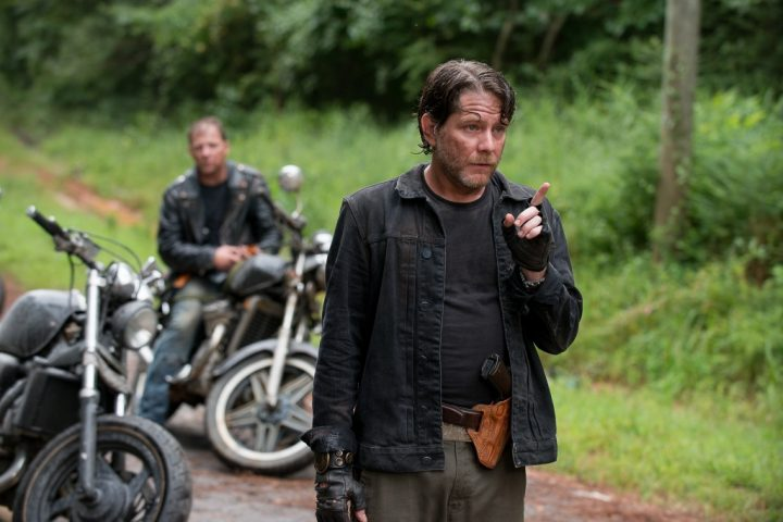 Christopher Berry as Biker - The Walking Dead _ Season 6, Episode 9 - Photo Credit: Gene Page/AMC