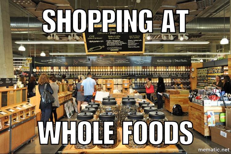 shopping at WF
