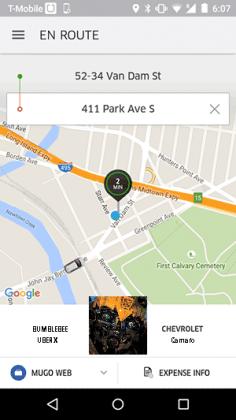 uber en route