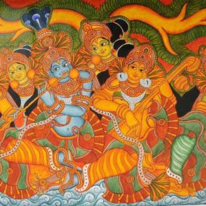 mural paintings, thrissur, kerala
