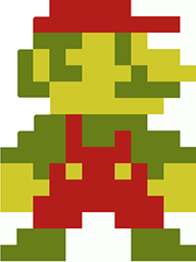 Mario sprite from Super Mario Brothers