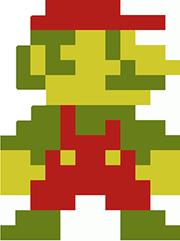 Mario sprite from Super Mario Brothers