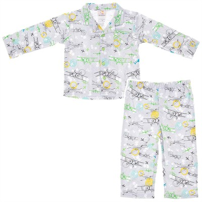 Absorba Coat Style Gray Airplane Pajamas for Boys