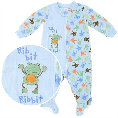 Ribbit Frogs Blanket Sleeper for Toddler Boys