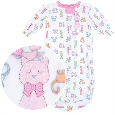Kitty Cat Fleece Sleep Sack for Baby Girls