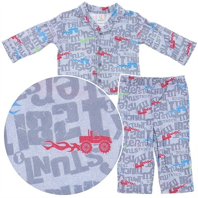 Monster Truck Coat-Style Pajamas for Infant Boys