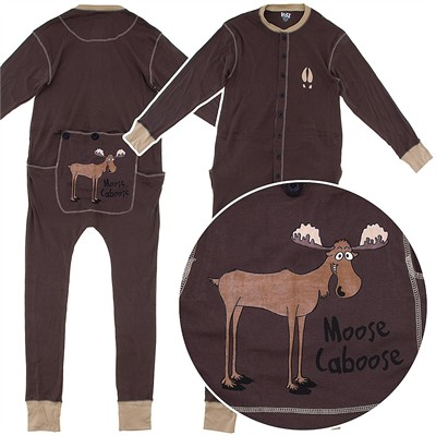 Lazy One FlapJack Moose Union Suit for Adults