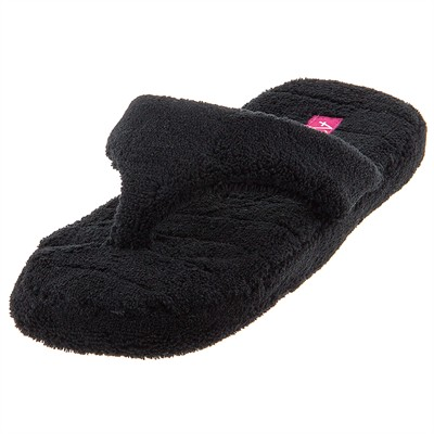 Aerosole Black Thong Slippers for Women