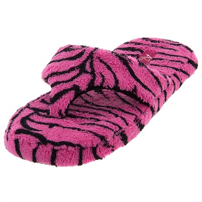 Aerosole Pink Zebra Print Thong Slippers for Women