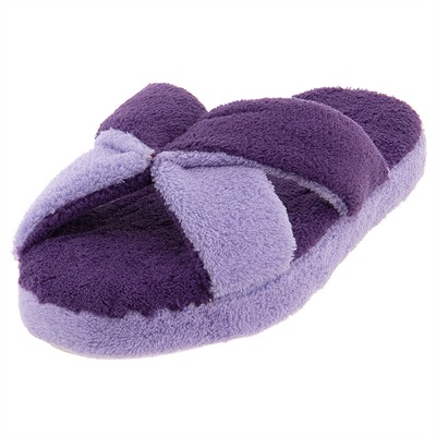 Aerosole Purple and Lavender Slip On Slippers for Women