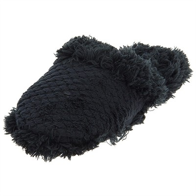 Black Aerosole Fuzzy Slippers for Women