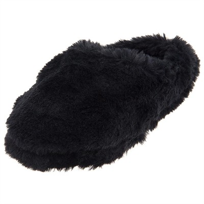 Black Aerosole Clog Fuzzy Slippers for Women