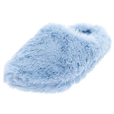 Light Blue Aerosole Clog Fuzzy Slippers for Women