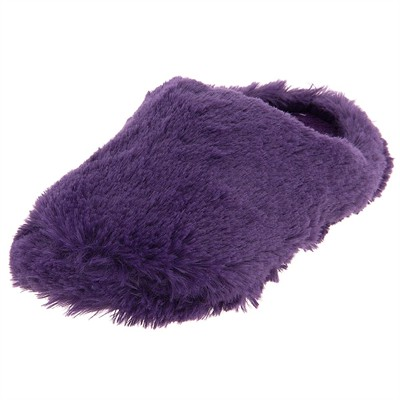 Purple Aerosole Clog Fuzzy Slippers for Women