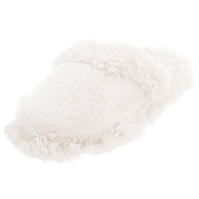 Ivory Aerosole Fuzzy Slippers for Women