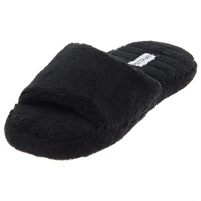Black Aerosole Open Toe Slippers for Women