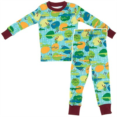 Agabang Alligator Organic Cotton Pajamas for Toddlers and Boys