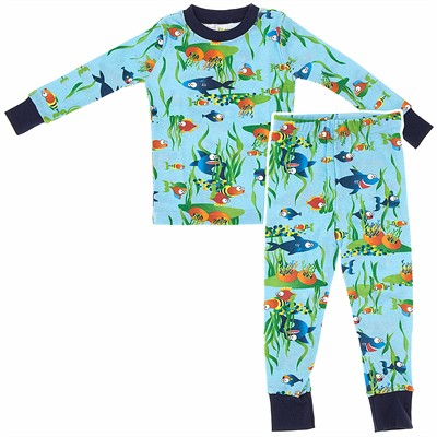 Agabang Aquarium Organic Cotton Pajamas for Toddlers and Boys