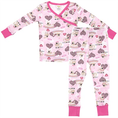 Agabang Fancy Cat Organic Cotton Pajamas for Toddlers and Girls