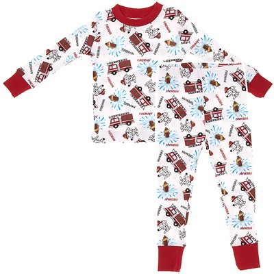 Agabang Firemen Organic Cotton Pajamas for Toddlers and Boys