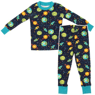 Agabang Planets Organic Cotton Pajamas for Toddlers and Boys