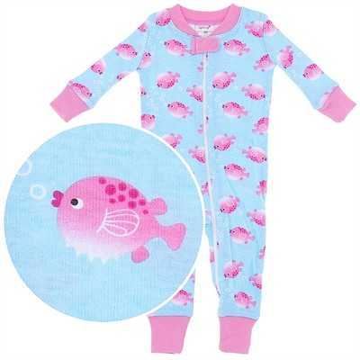 Agabang Fish Organic Cotton Sleeper for Baby Girls