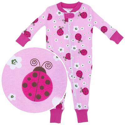 Agabang Ladybug Organic Cotton Sleeper for Baby Girls